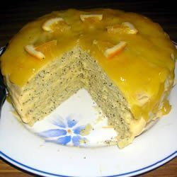 Poppy Seed Torte with Orange Glaze