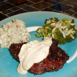 Peppered Tenderloin With Mustard Sauce recipe