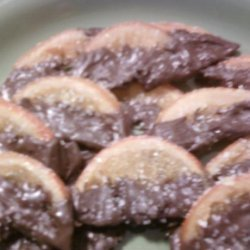 Candied Orange Slices Dipped in Chocolate recipe