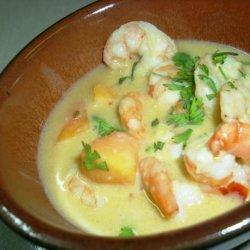 Thai Shrimp in Curried Coconut Sauce