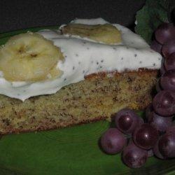 Banana Cake With Poppy and Lemon Cream