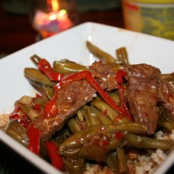 Ginger, Beef, and Green Bean Stir-Fry