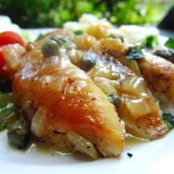 Pan Roasted Chicken Breasts With Lemon and Caper Sauce