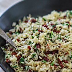 Sun-Dried Tomato Spinach Rice Pilaf