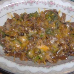 Broccoli With Mushrooms and Walnuts