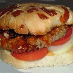 Barbecued Pork Burgers
