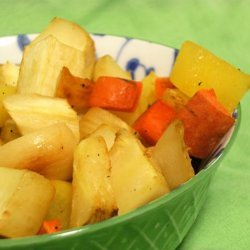 Caramelized Turnips , Carrots and Parsnips