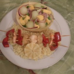 Get Sassy Seafood Skewers With Jerk and All the Perks! recipe