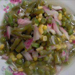Green Bean, Corn and Pea Marinated Salad