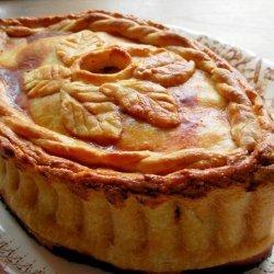 Old English Posh Picnic Raised Chicken and Ham Pie