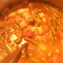 Vegetable Beef Soup (Crockpot)
