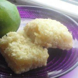 Tequila-Lime-Coconut Macaroon Bars