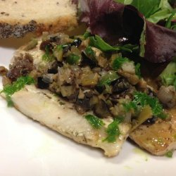 Mediterranean Mahi Mahi With Olive and Shallot Tapenade