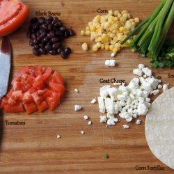 Black-Bean and Goat-Cheese Quesadillas