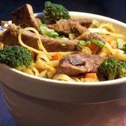 Stir Fry Steak and Noodles