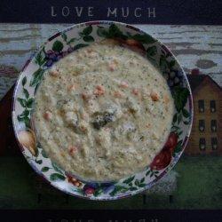 Cauliflower/Broccoli/Bell Pepper Crock Pot Soup