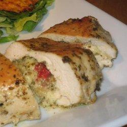 Pesto-Mozzarella Stuffed Chicken Breasts