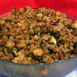 Crock Pot Bread & Sausage Stuffing