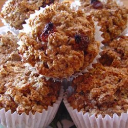 Raisin Oatmeal Bran Muffins