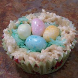 Easter Nest Rice Krispies Treats
