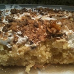 The Best Butterfinger Cake