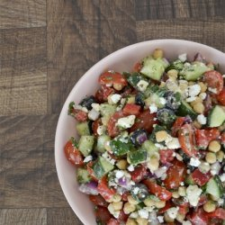 Mediterranean  Chickpea, Cucumber and Tomato Salad