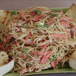 Tofu and Noodle Salad With Peanut Sauce recipe