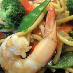 Sweet Chilli Prawn/Shrimp and Basil Noodles