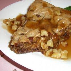 Applebee's Walnut Blondie With Maple Butter Sauce recipe