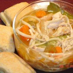 Chicken Linguine Soup - Crock Pot
