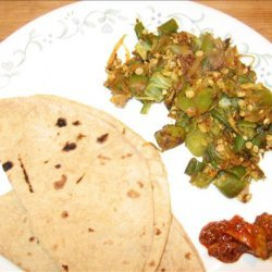 Bhindi Bhaji (Fried Stuffed Okra) recipe