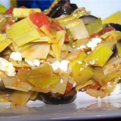 Leeks With Olives and Feta