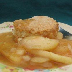 Apple Cobbler With Sweet Biscuit Crust