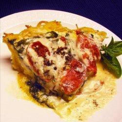 Spinach-Alfredo Pasta Pie