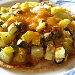 Green Tomatoes & Zucchini Pizza my way to have fried green tomatoes
