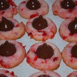 Cherry Cordial Kiss Cookies recipe