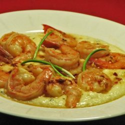 Shrimp and Goat Cheese Grits recipe