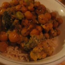 Curried Chickpeas and Veggies