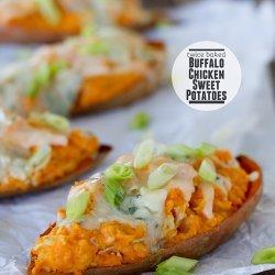 Buffalo Chicken Twice-Baked Potatoes