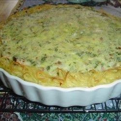Ham and Swiss Asparagus Pie recipe
