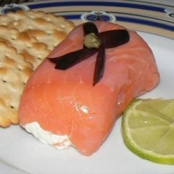 Lovely Smoked Salmon and Cream Cheese Entree.