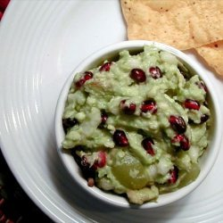 Inspired Avocado Guacamole W. Pomegranate & Pears recipe