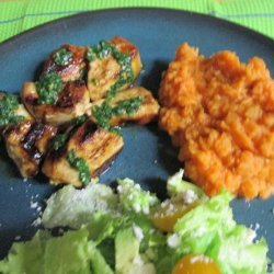 Mahogany  Chicken W Chimichurri & Smoky Lime Sweet Potatoes