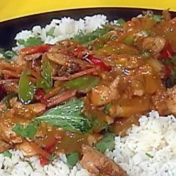 Chicken Satay With Orange Scented Jasmine Rice