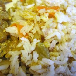 Basmati Rice With Carrots, Raisins and Spices (Kabli)