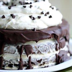 7 Layer Brownie Ice Cream Cake
