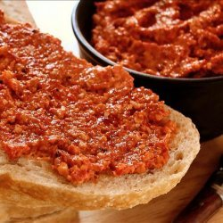 Roast Pepper Spread With Walnuts and Garlic recipe