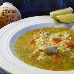 Mexican Chicken Rice Soup (Caldo Cantina)