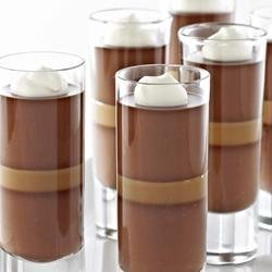 Dark Chocolate Caramel Panna Cotta