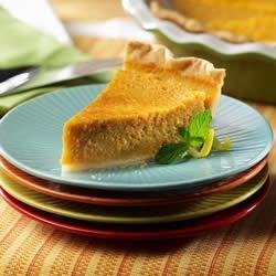 Sweet Potato Pie from the LACTAID(R) Brand